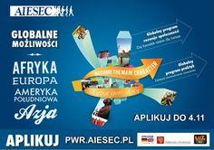 praktyki i wolontariat zagraniczny z AIESEC, aplikuj na www. Desktop Screenshot, Inspiration, Design, Europe, Biblical Inspiration, Inspirational, Inhalation