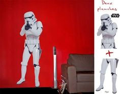 ) repositionable wall sticker of a Stormtrooper from Star Wars. Decoration Star Wars, Quirky Gifts, Wall Stickers, Geek Stuff, Stars, Fictional Characters, Grandeur Nature, Impression, Empire