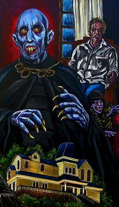 Salem's Lot by Unknown Artist Horror Show, Horror Art, Horror Movies, The Artist Movie, Salem Lot, King's Landing, Danse Macabre, Fright Night, Artwork