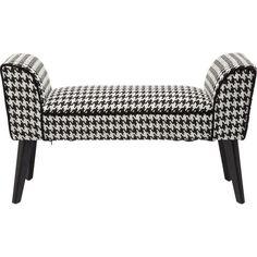 Bank Filou Pepita - Kare Design Decoration, New Homes, Chair, Mousse Polyuréthane, Furniture, Home Decor, Modern Fabric, Modern Interior, Small Bench