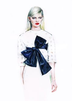 Illustration.Files: Christian Dior S/S 2014 Haute Couture Fashion Illustrations by Diana Kuksa