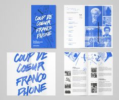 Established in this French festival has grown and now takes place in more than 30 Canadian English cities and features both local and international artists. To show the craziness of the festival and artists, we used random illustrations related to… Editorial Design Layouts, Editorial Design Magazine, Magazine Layout Design, Book Design Layout, Print Layout, Pamphlet Design, Leaflet Design, Booklet Design, Bts Design Graphique