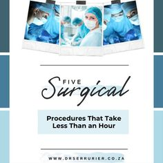 Thanks to innovative devices and newer methods, there are now plastic surgery procedures that can be completed faster than ever - without compromising results or safety. Here are six procedures that can be done in an hour or less. #CosmeticSurgery #PlasticSurgery #Surgeon #Medical #Health #Aesthetic #Advice #DrSerrurier #DrCharlesSerrurier
