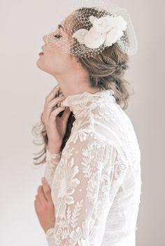 {Bella Cage Veil} Part of the Enchanted Atelier F/W 2013 Collection. Photo Credits: Emme Wynn Photography; MUA Liz Wegrzyn; Model Leanne Hyer