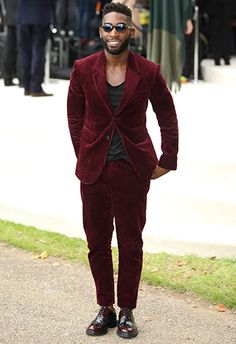 Tinie Tempah in a cord suit