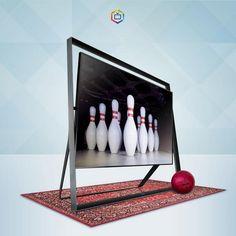"""85"""" Samsung Ultra Hd 4K television bowling"""