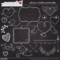 SALE Valentine Chalkboard Doodles Digital Clipart - Commercial Use OK - Chalkboard Art, Valentine Chalkboard Graphics, Valentine Clipart Chalkboard Doodles, Blackboard Art, Chalkboard Writing, Chalkboard Lettering, Chalkboard Designs, Chalkboard Clipart, Chalkboard Ideas, Chalkboard Frames, Chalkboard Banner