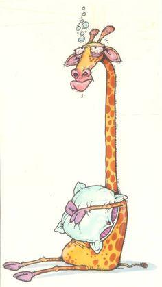 Būs labi 😉domas par tevi un mums liek justies laimīgam Giraffe Drawing, Giraffe Painting, Giraffe Art, Cartoon Kunst, Cartoon Art, Animal Drawings, Art Drawings, Giraffe Pictures, Fluffy Pillows