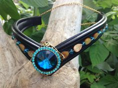 Ice Blue Oko Konia browband for horse's bridle. $150