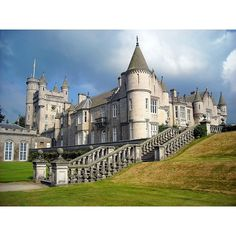 Balmoral castle -England Architecture ❤ liked on Polyvore featuring places and palace