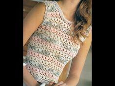 Patrón Para Tejer Blusa Calada Ligera a Crochet
