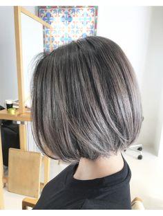 Ash Blonde Highlights On Dark Hair, Ash Blonde Short Hair, Asian Short Hair, Asian Hair, Cabello Hair, Balayage Hair, Pink Hair, Bob Hairstyles, Short Hair Styles