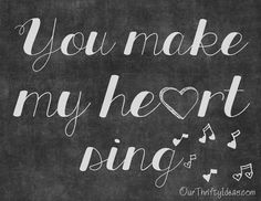You Make My Heart Sing Valentine Printable | Our Thrifty Ideas #Valentine #printable