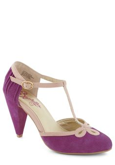 All Dressed Up Heel in Plum by Seychelles - Mid, Leather, Purple, Tan / Cream, Formal, Prom, Party, Variation