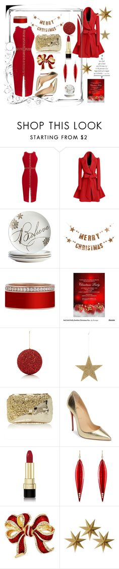 Party for Santa by numeangeleyes on Polyvore featuring WithChic, Christian Louboutin, Anndra Neen, Charter Club, Mark Davis, Dolce&Gabbana, Gold Eagle, LumaBase and Bloomingville