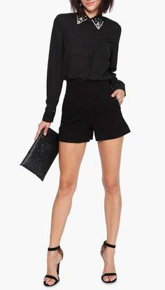 High Waist Zip Shorts
