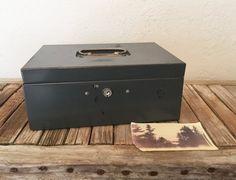 Vintage Metal Cash Box Tool Box by NostalgicNuance on Etsy #vintageoffice
