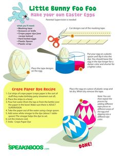 Arts and Crafts: Easter Eggs | Speakaboos Worksheets