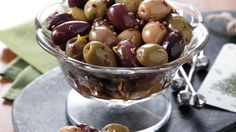 Serve your family with these marinated Moroccan olives – a flavorful appetizer.