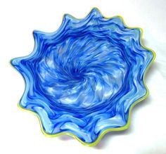 Hand Blown Glass Art Platter Bowl Wall Hanging 15 | eBay #GlassBlowing