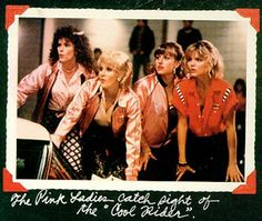The Pink Ladies in Grease 2. Best Grease films.