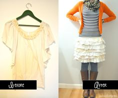 t-shirt-to-skirt-upcycle and more upcycle ideas