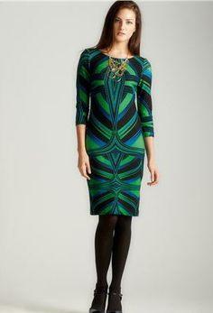 MADEMOD - Taylor Long Sleeve Printed Dress – Loehmanns – $49.00
