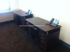 techni mobili desk assembled in reston VA by Furniture Assembly Experts LLC