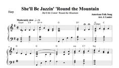 $1.50 Harp Music: She'll Be Jazzin Round the Mountain