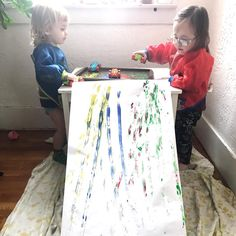 """Sarah • Learning With Hazel on Instagram: """"Car Prints 🚗 🎨 Car print making has been around since the dawn of time but I really wanted to make a full body art experience for these…"""" Preschool At Home, Preschool Classroom, Infant Activities, Preschool Activities, Mark Making Early Years, Preschool Transportation, Car Prints, Tuff Tray, School Craft"""