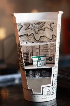 Cutout Starbucks Art