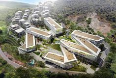 Birdseye view of the complex. Image © PWD, +OUT, White Monkeys China-based firm PWD Architecture will soon break ground on Dali Creative Area, a