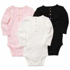 3-Pack Long-Sleeve Bodysuits by Carters. Size 18 months