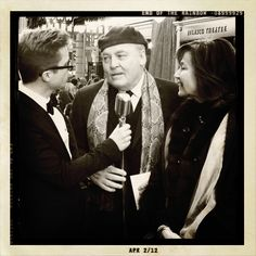 End of the Rainbow on Broadway: Stacy Keach and his wife stop to talk with our host.