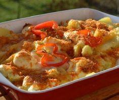 Villámgyors sajtos-tejfölös pogácsa Recept képpel - Mindmegette.hu - Receptek Potato Recipes, Meat Recipes, Paella, Superfood, Tofu, Thai Red Curry, Cauliflower, Macaroni And Cheese, Potatoes