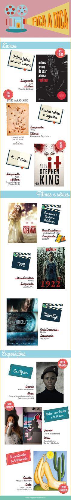 Fica a Dica novembro: lançamentos de livros, filmes e exposições - Blog da Mimis #blogdamimis #livros #filmes #cinema #netflix #exposição