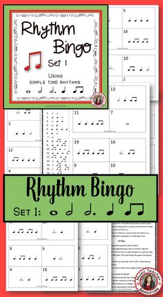 MUSIC GAME - RHYTHM BINGO (The Aussie Way) CLICK through to read more or save for later! ♫ Music Education Games, Music Activities, Music Games, Rhythm Games, Music Mix, Music Lessons For Kids, Music For Kids, Piano Lessons, Music Bingo