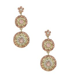 Natasha Accessories Crystal Trio Drop Earrings | Dillards.com