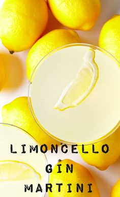 Shaking things up with this Limoncello Gin Martini cocktail recipe. #BiteMeMore