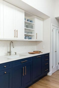 Perfect Navy Kitchen Cabinets For Decorating Your Kitchen. Below are the Navy Kitchen Cabinets For Decorating Your Kitchen. This article about Navy Kitchen Cabinets For Decorating Your Kitchen  Navy Kitchen Cabinets, Kitchen Cabinet Colors, Painting Kitchen Cabinets, Blue Cabinets, Shaker Cabinets, Kitchen Counters, Home Decor Kitchen, Kitchen Interior, New Kitchen