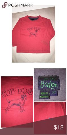 Mini Boden LS Tee Pre•loved Mini Boden LS Tee • Size 3/4 • Has small stain on sleeve, otherwise good condition Mini Boden Shirts & Tops