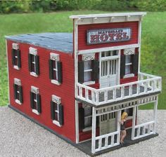 Maybelle's Hotel & Brothel  ~ Old West Diorama Building (Wooden)