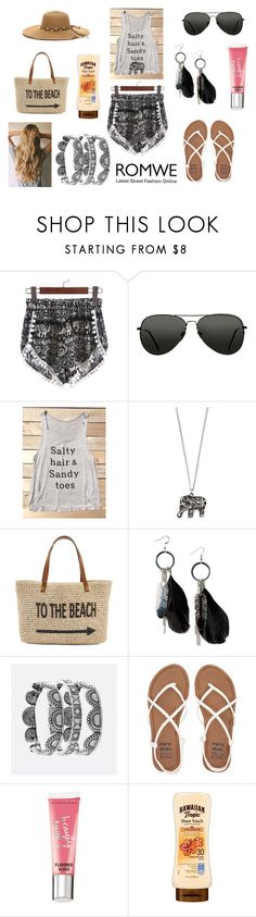 """Win summer shorts from Romwe !"" by holly32196 on Polyvore featuring Topshop, Accessorize, Straw Studios, MANGO, Avenue, Billabong and Victoria's Secret"