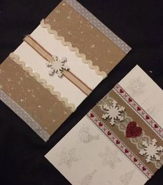 Shabby chic Christmas card designs