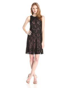 Sleeveless Beaded Lace Dress by Adrianna Papell