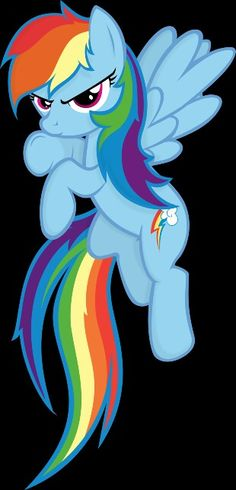 My Little Pony: Rainbow Dash she looks pretty angry