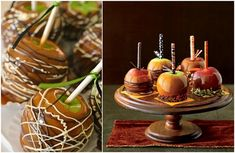 """Not your typical candy apple: Cinnamon Caramel Apple """"Pumpkins"""" - so delightful! Description from pinterest.com. I searched for this on bing.com/images"""