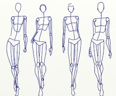 Fashion Sketch club: the artists stick figure