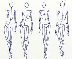 Fashion Sketch club: the artists stick figure