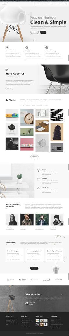 Kleanity - Minimalist WordPress Theme / Creative Portfolio #agency #artist #business • Download ➝ https://themeforest.net/item/kleanity-minimalist-wordpress-theme-creative-portfolio/19133384?ref=pxcr